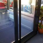 Secondary glazed sliding doors
