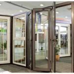 Bifolding double glazed doors