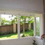 Double glazed window installation