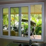 Sliding double glazed doors