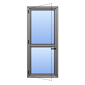 double glazed casement door with midrail