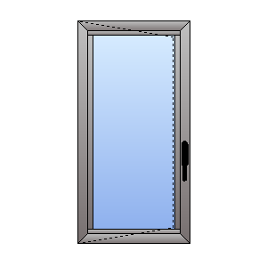 casement double glazed window
