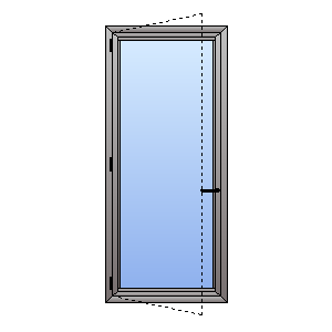 double glazed casement door