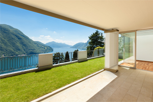 A balcony enclosure can create a warm winter retreat