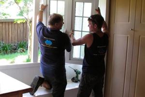 Process of installing double glazed windows