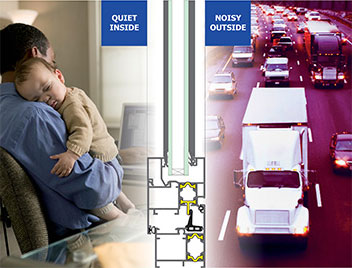 benefits of double glazing against noise