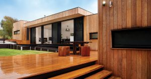 noise cancelling thermal double glazed windows and doors of stylish house in Brisbane