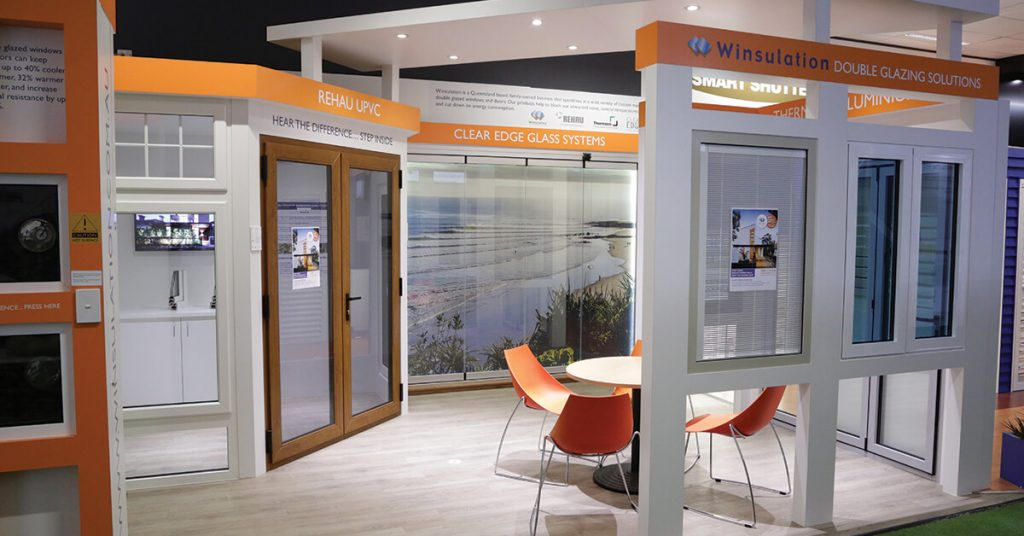 winsulations business stand at the Brisbane Home Show in 2020
