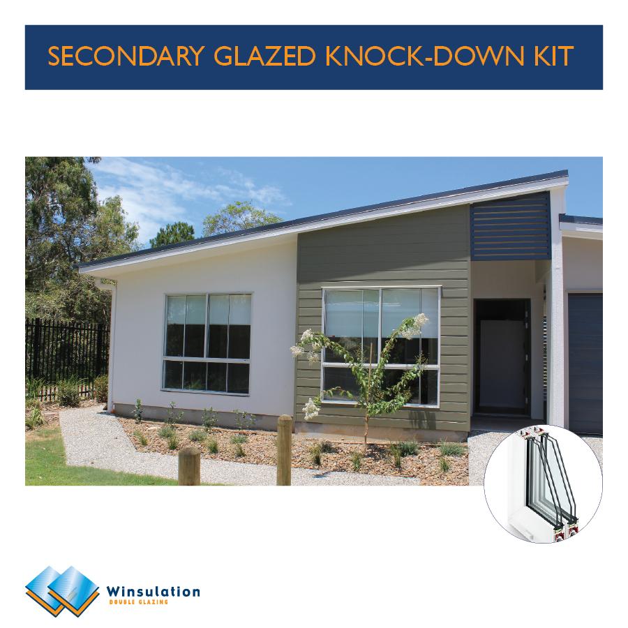 Secondary glazed knock-down kit