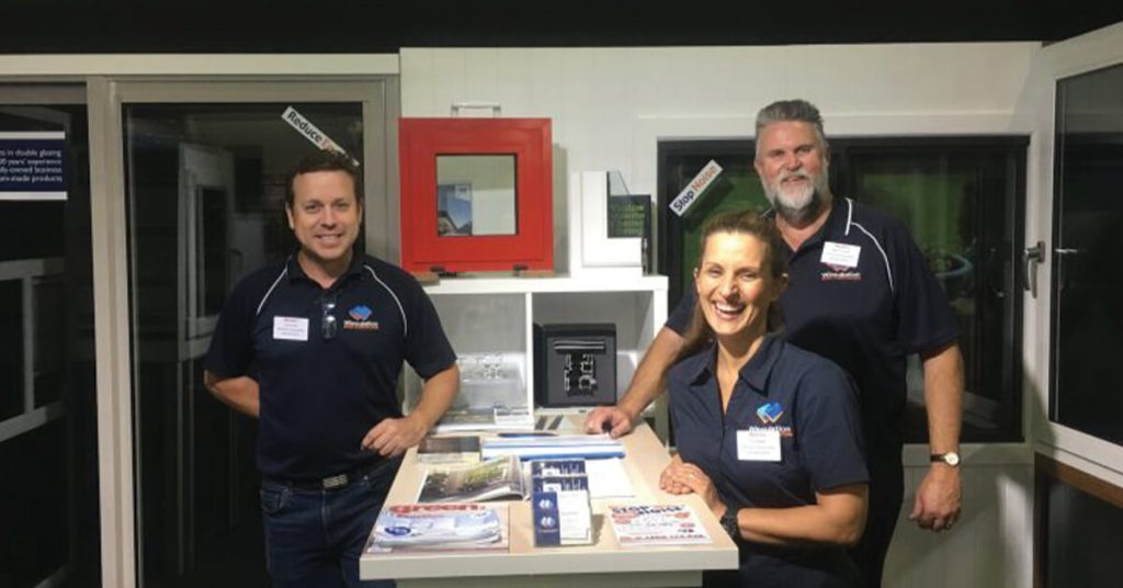 window installation experts from Winsulation speaking with customers at Brisbane Home Show in 2020