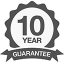icon for double glazed glass with 10 year guarantee